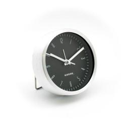 Reloj Despertador SQ Aluminio y Negro
