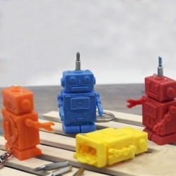 Llavero Robot de Silicona con Destornillador y Luz Led