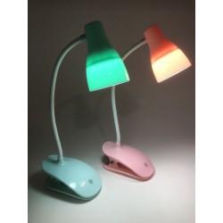 Lampara/Luz/Velador de Mesa con Broche/Clip