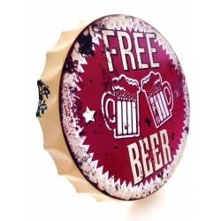 Chapa Decorativa Redonda tipo Tapa de Cerveza