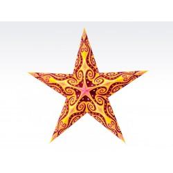 Lámpara de Papel con Forma de Estrella China (Pantalla Sola)