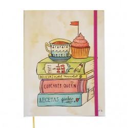 Cuaderno Recetario Cocido Tapa Dura