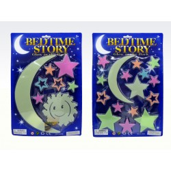 Adhesivo/Adorno que Brilla en la Oscuridad con Lunas, Planetas y Estrellas