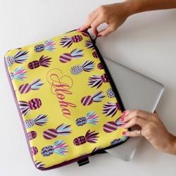 """Funda PortaNotebook en Ecocuero con Diseños de Autor 13/14"""""""