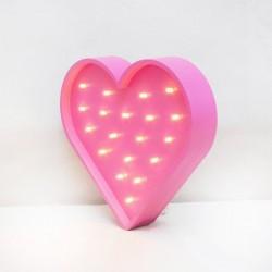 Luz/Lámpara Decorativa de Madera con Formas Corazón