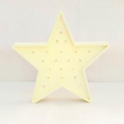 Luz/Lámpara Decorativa de Madera con Formas Estrella
