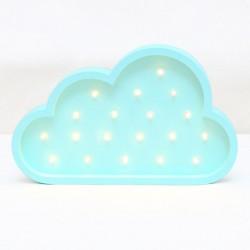 Luz/Lámpara Decorativa de Madera con Formas Nube