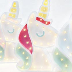 Luz/Lámpara Decorativa de Madera con Formas Unicornio