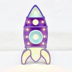 Luz/Lámpara Decorativa de Madera con Formas Cohete