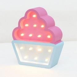 Luz/Lámpara Decorativa de Madera con Formas Cupcake Mini