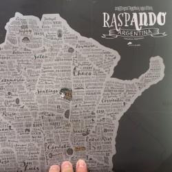 Lámina Mapa de Argentina RaspAndo para Raspar