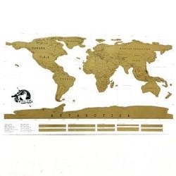 Mapa Mundi para Raspar fondo claro