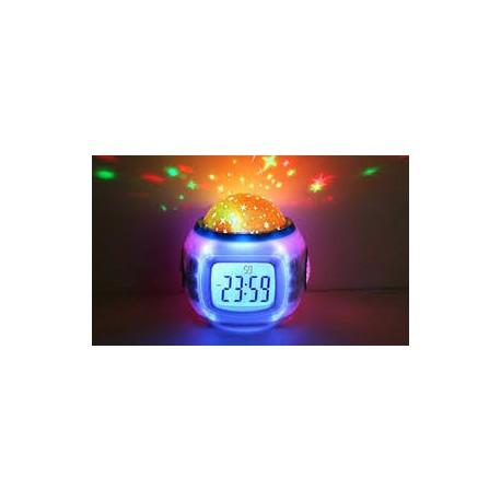 Reloj Despertador con Proyector de Estrellas
